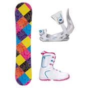 Joyride Paisley Venus XIII Girls Complete Snowboard Package, , medium
