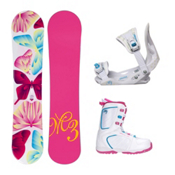 Millenium 3 Free Venus XIII Girls Complete Snowboard Package, , medium