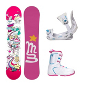 Millenium 3 Halo 3 Venus XIII Girls Complete Snowboard Package, , medium