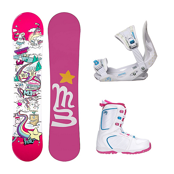 Millenium 3 Halo 3 Venus XIII Girls Complete Snowboard Package, , 600