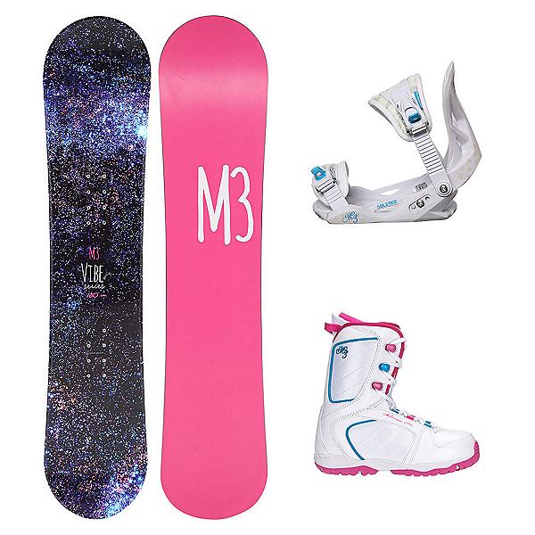 Millenium 3 Vibe Venus XIII Girls Complete Snowboard Package, , 600