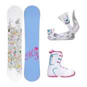 Millenium 3 Star Venus XIII Girls Complete Snowboard Package, , medium