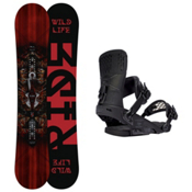 Ride Wild Life Rodeo Snowboard and Binding Package 2016, 161cm, medium