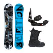 Burton Clash Moto Complete Snowboard Package 2016, 145cm, medium