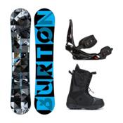 Burton Clash Moto Complete Snowboard Package 2016, 151cm, medium