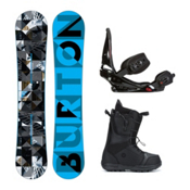 Burton Clash Moto Complete Snowboard Package 2016, 158cm, medium