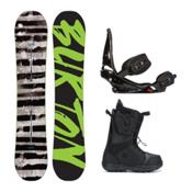 Burton Blunt Moto Complete Snowboard Package 2016, 150cm, medium