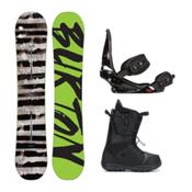 Burton Blunt Moto Complete Snowboard Package 2016, 154cm, medium