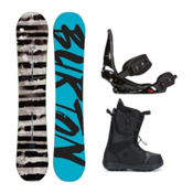 Burton Blunt Moto Complete Snowboard Package 2016, 157cm, medium