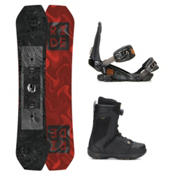 Ride Helix Jackson Boa Coiler Complete Snowboard Package 2016, 157cm, medium