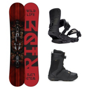 Ride Wild Life Jackson Boa Coiler Complete Snowboard Package, 155cm, medium