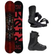 Ride Wild Life Jackson Boa Coiler Complete Snowboard Package 2016, 158cm, medium