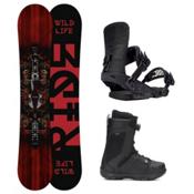 Ride Wild Life Jackson Boa Coiler Complete Snowboard Package, 161cm, medium