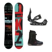 K2 Raygun Seem Complete Snowboard Package 2016, 156cm, medium