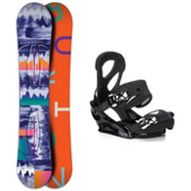 Burton Feather Stiletto Womens Snowboard and Binding Package 2016, 149cm, medium
