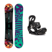Burton Socialite Scribe EST Womens Snowboard and Binding Package 2016, 147cm, medium