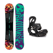 Burton Socialite Scribe EST Womens Snowboard and Binding Package 2016, 151cm, medium