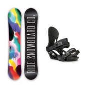 Ride Compact LXH Womens Snowboard and Binding Package 2016, 139cm, medium