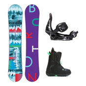 Burton Feather Mint Womens Complete Snowboard Package 2016, 152cm, medium