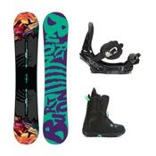 Burton Socialite Mint Womens Complete Snowboard Package 2016, 151cm, medium