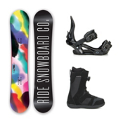 Ride Compact Harper Boa Womens Complete Snowboard Package 2016, 139cm, medium