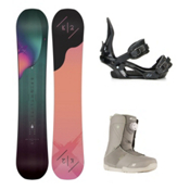 K2 Bright Lite Sendit Boa Womens Complete Snowboard Package 2016, 149cm, medium