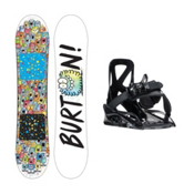 Burton Chopper Grom Kids Snowboard and Binding Package, 130cm, medium
