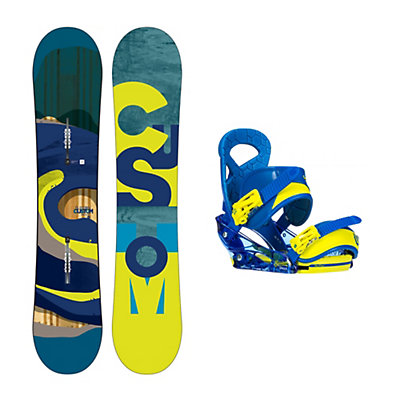 Burton Custom Smalls Mission Smalls Kids Snowboard and Binding Package, , viewer