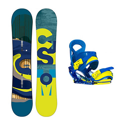 Burton Custom Smalls Wide Mission Smalls Kids Snowboard and Binding Package, , viewer