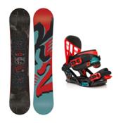 K2 Vandal Vandal Kids Snowboard and Binding Package, 132cm, medium