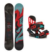 K2 Vandal Vandal Kids Snowboard and Binding Package, 137cm, medium