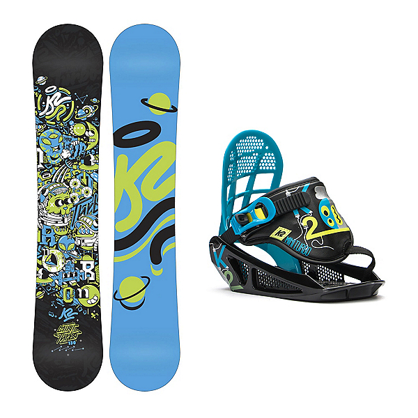 K2 Mini Turbo Mini Turbo Kids Snowboard and Binding Package, , 600