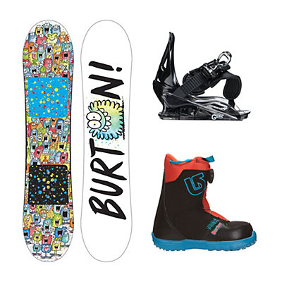 Burton Chopper Grom Boa Kids Complete Snowboard Package, 100cm, viewer