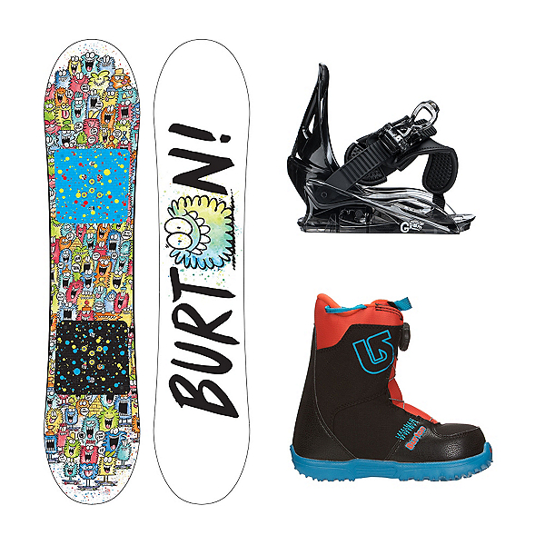 Burton Chopper Grom Boa Kids Complete Snowboard Package, , 600