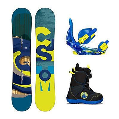 Burton Custom Smalls Wide Zipline Boa Kids Complete Snowboard Package, , viewer