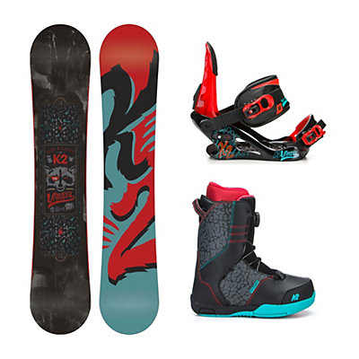 K2 Vandal Vandal Boa Kids Complete Snowboard Package, 132cm, viewer
