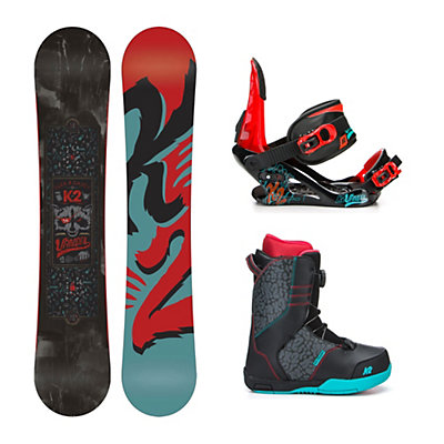 K2 Vandal Wide Vandal Boa Kids Complete Snowboard Package, 145cm Wide, viewer