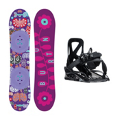 Burton Chicklet Grom Girls Snowboard and Binding Package 2016, 120cm, medium
