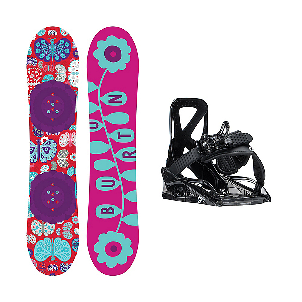 Burton Chicklet Grom Girls Snowboard and Binding Package, , 600