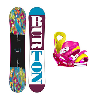 Burton Feelgood Smalls Scribe Smalls Girls Snowboard and Binding Package 2016, , viewer