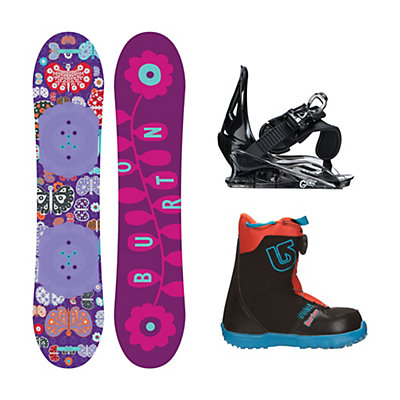 Burton Chicklet Grom Boa 2 Girls Complete Snowboard Package, 120cm, viewer