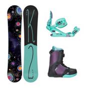 K2 Kandi Kat Boa Girls Complete Snowboard Package 2016, 137cm, medium