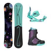 K2 Kandi Kat Boa Girls Complete Snowboard Package 2016, 141cm, medium