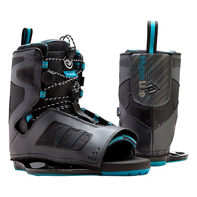 Hyperlite Team OT Wakeboard Bindings, Black-Blue, viewer