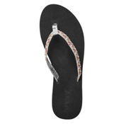 Reef Twisted Stars Womens Flip Flops, Silver-Gold, medium