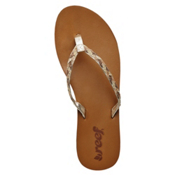 Reef Twisted Stars Womens Flip Flops, Tan-Champagne, medium
