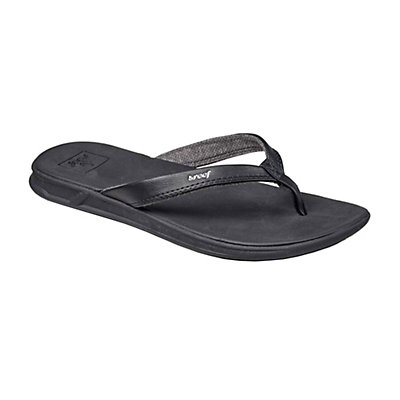 Reef Rover Catch Womens Flip Flops, Black, viewer