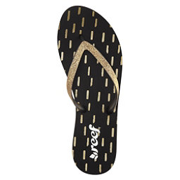 Reef Stargazer Prints Womens Flip Flops, Black-Gold, 256