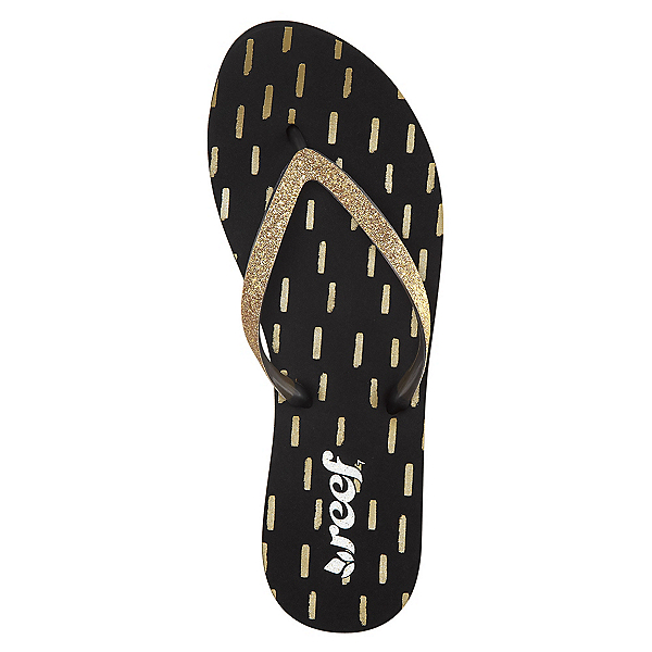 Reef Stargazer Prints Womens Flip Flops, Black-Gold, 600