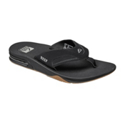 Reef Fanning Mens Flip Flops, Black-Silver, medium